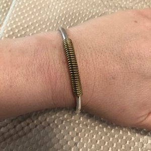 Jewelry - Beautiful silver bracelet with. Gold accent